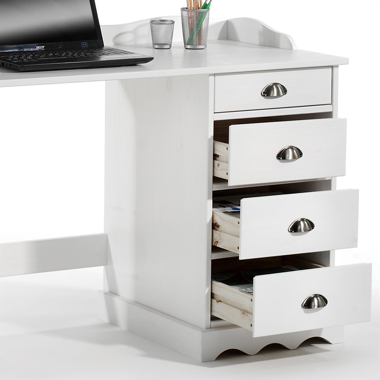 schreibtisch mit aufsatz sandrine in weiss mobilia24. Black Bedroom Furniture Sets. Home Design Ideas