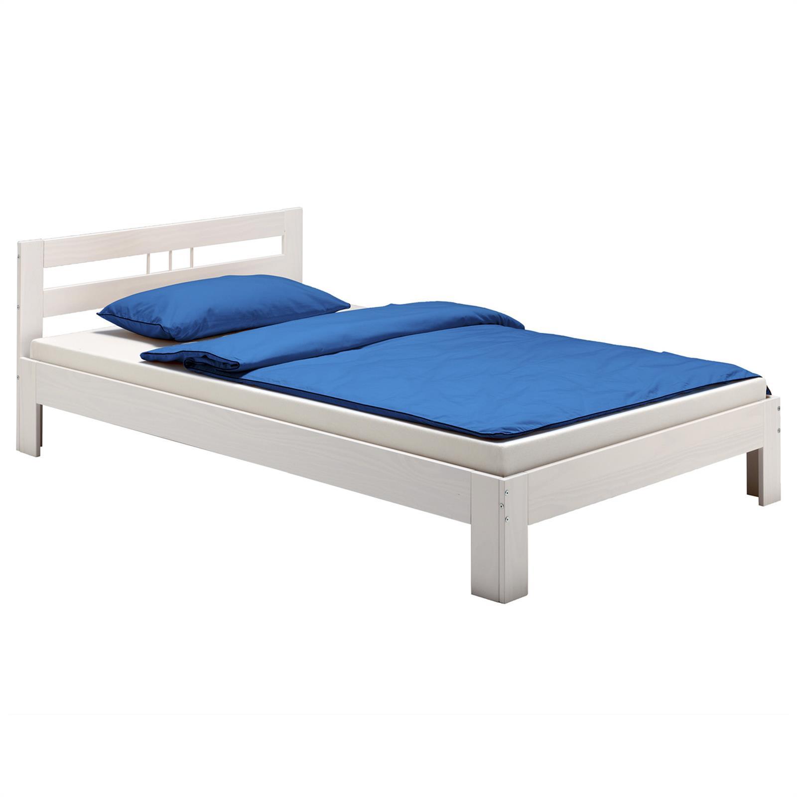 Doppelbett theo 140 x 200 cm in wei mobilia24 for Doppelbett 140