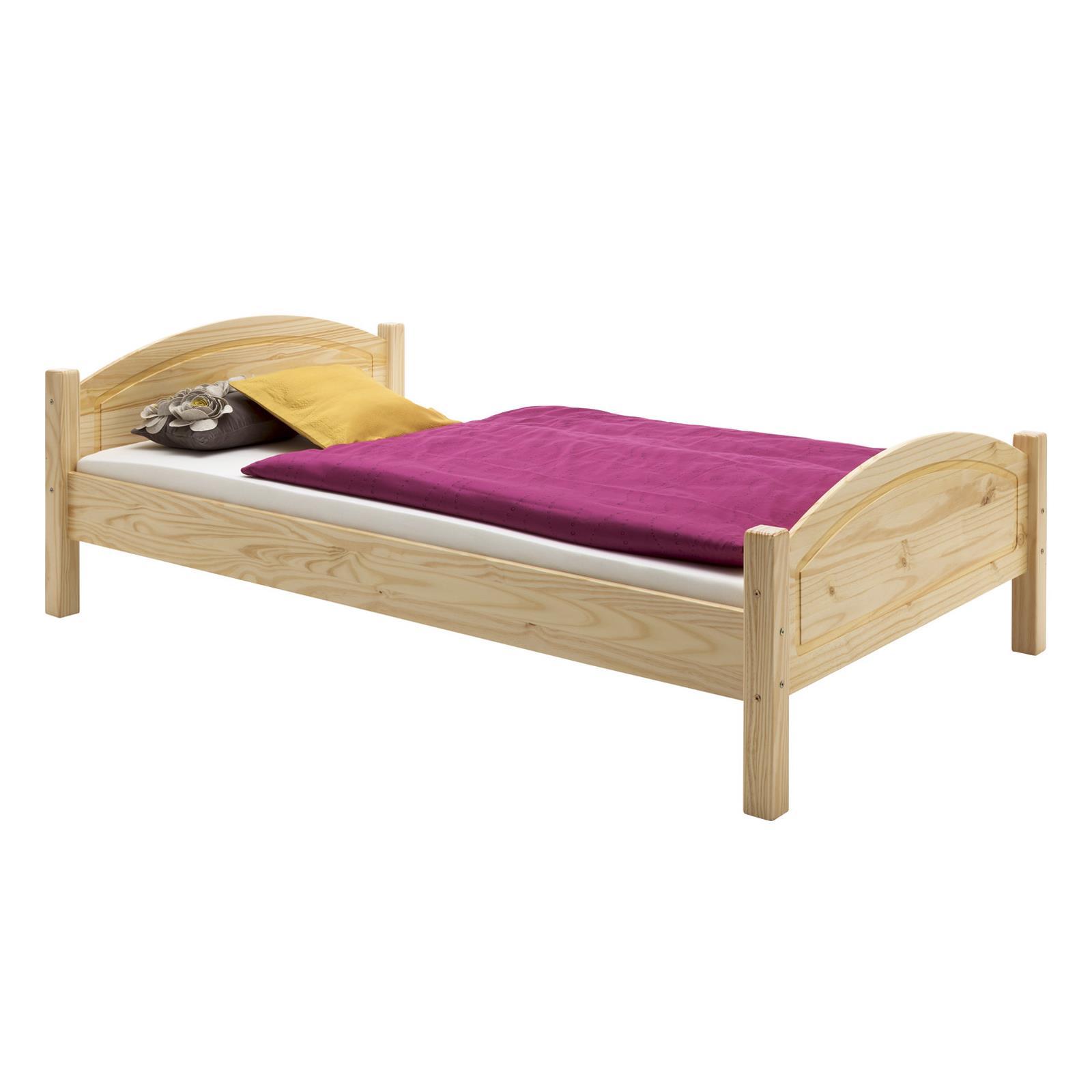 holzbett flims in natur 120 x 200 cm mobilia24. Black Bedroom Furniture Sets. Home Design Ideas