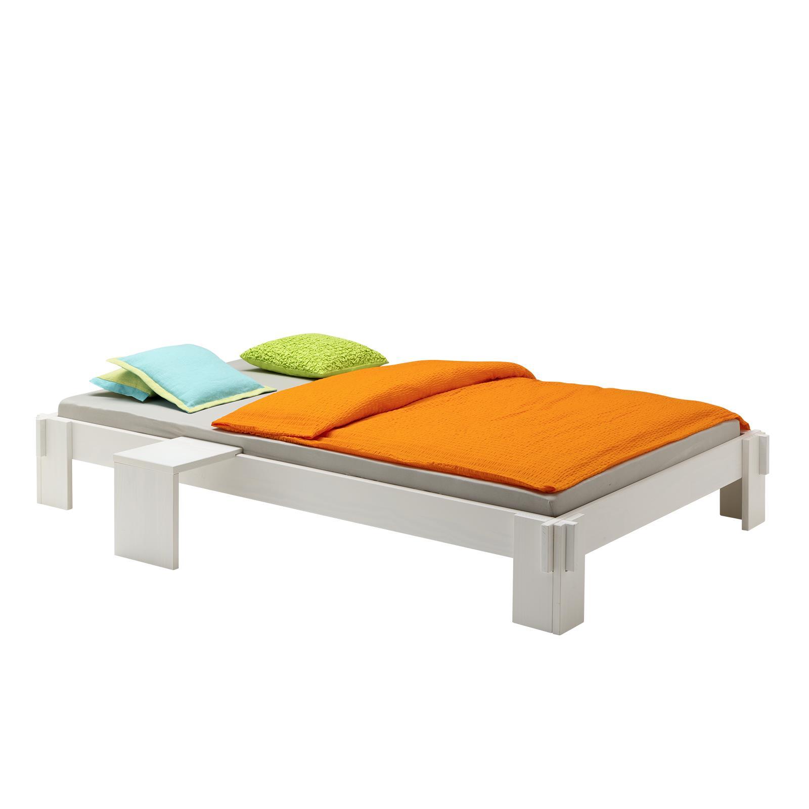 futonbett bettgestell jugendbett holzbett kiefer massiv versch farben ebay. Black Bedroom Furniture Sets. Home Design Ideas