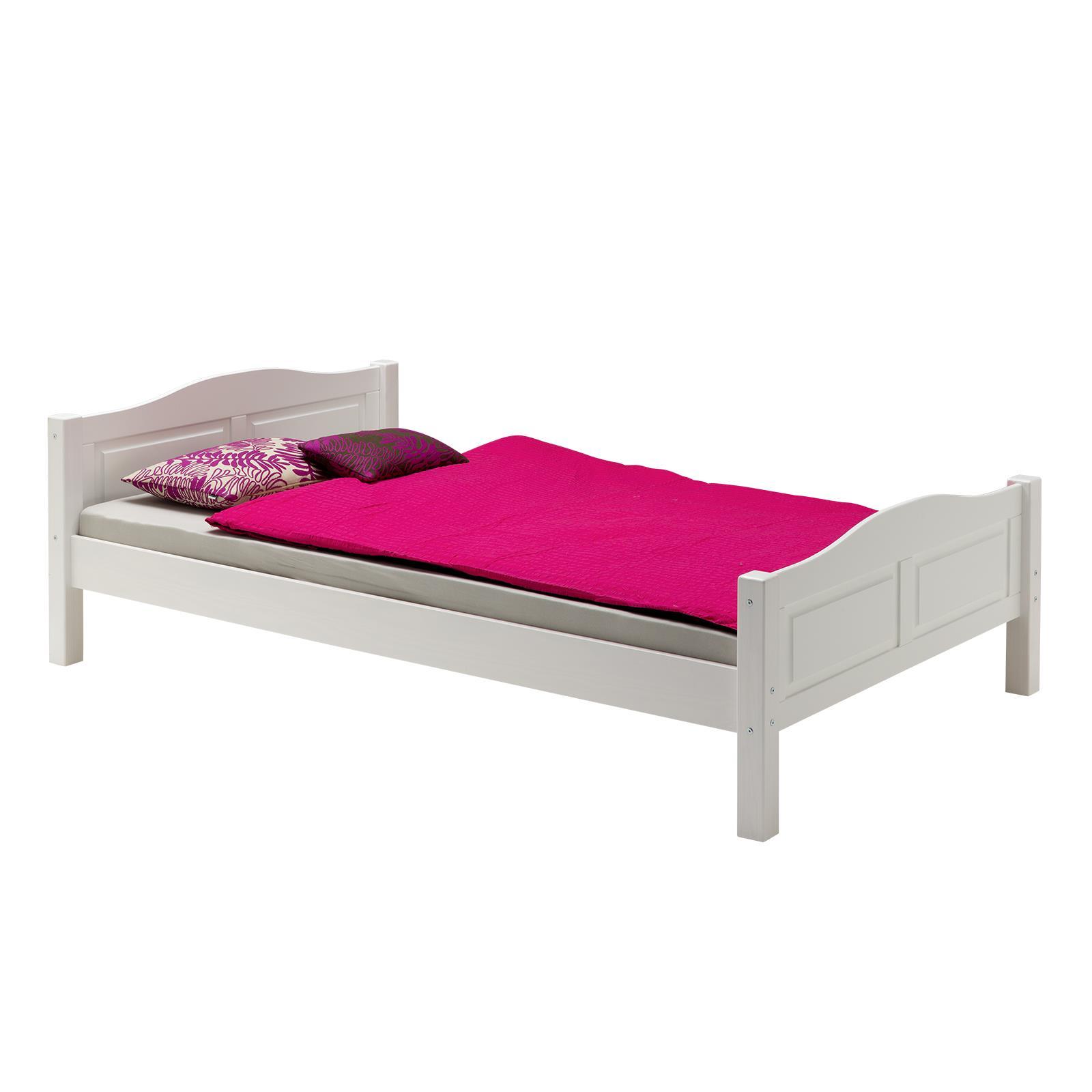 bett landhausbett henrik 120x200 cm wei mobilia24. Black Bedroom Furniture Sets. Home Design Ideas