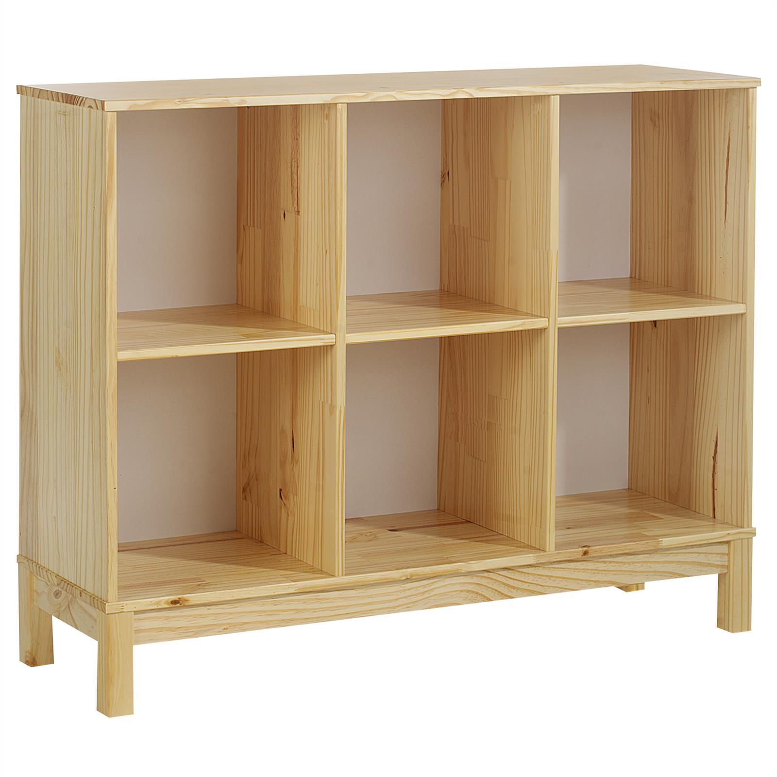 b cherregal b roregal regal standregal holzregal 6 f cher kiefer massiv lackiert ebay. Black Bedroom Furniture Sets. Home Design Ideas