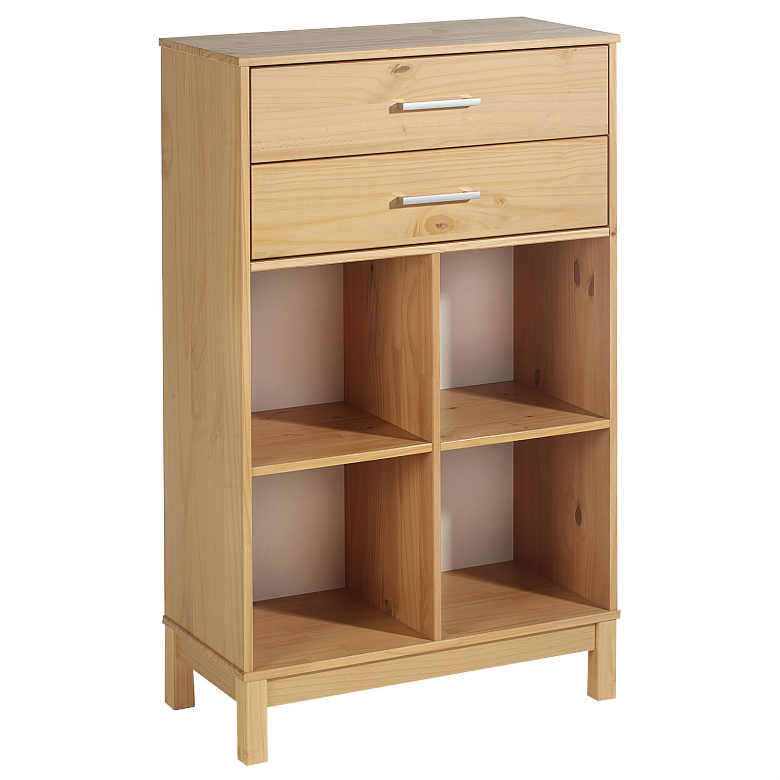 schubladenregal logo mit 4 f cher 2 schubladen kiefer buchefarben mobilia24. Black Bedroom Furniture Sets. Home Design Ideas