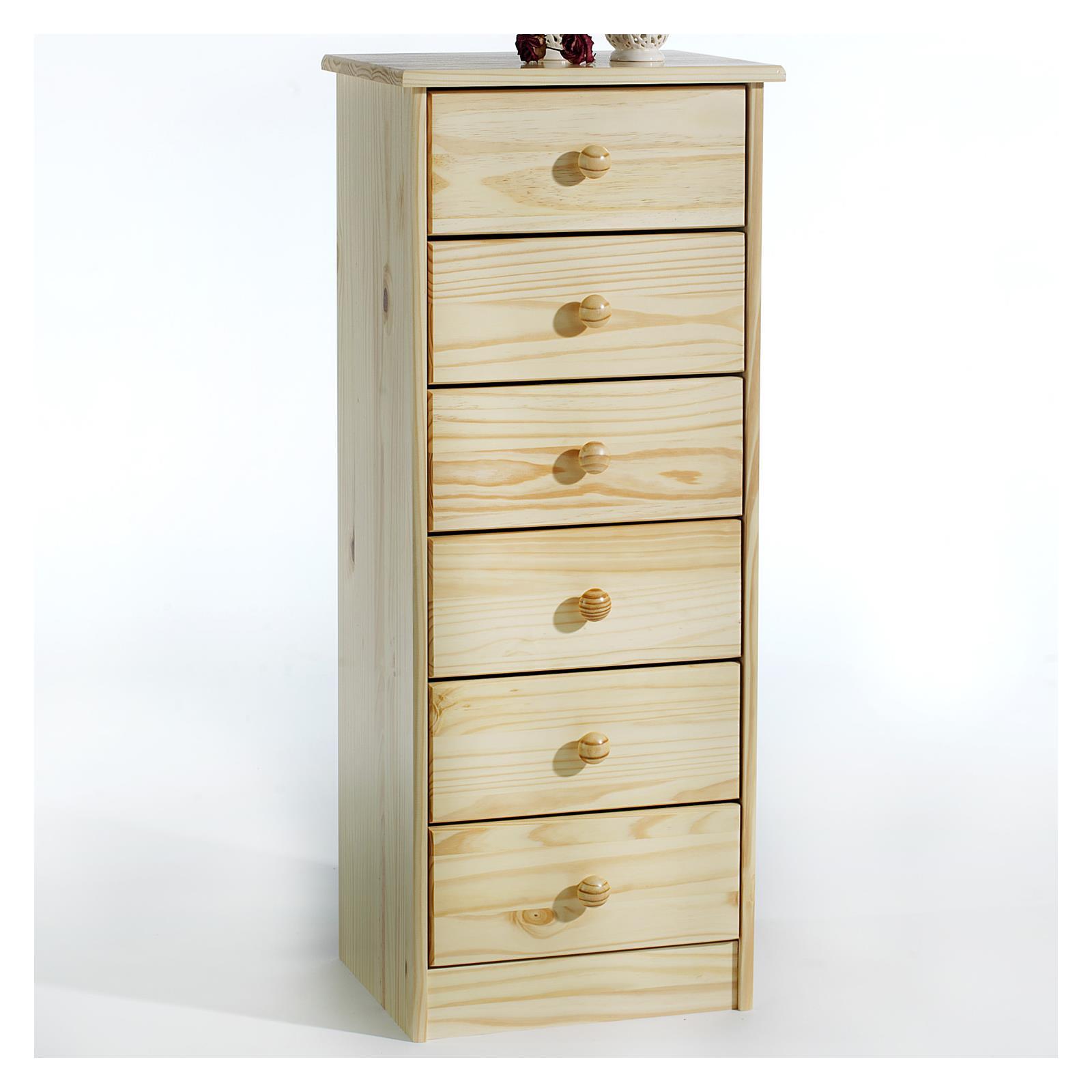 kommode rondo 6 schubladen natur mobilia24. Black Bedroom Furniture Sets. Home Design Ideas