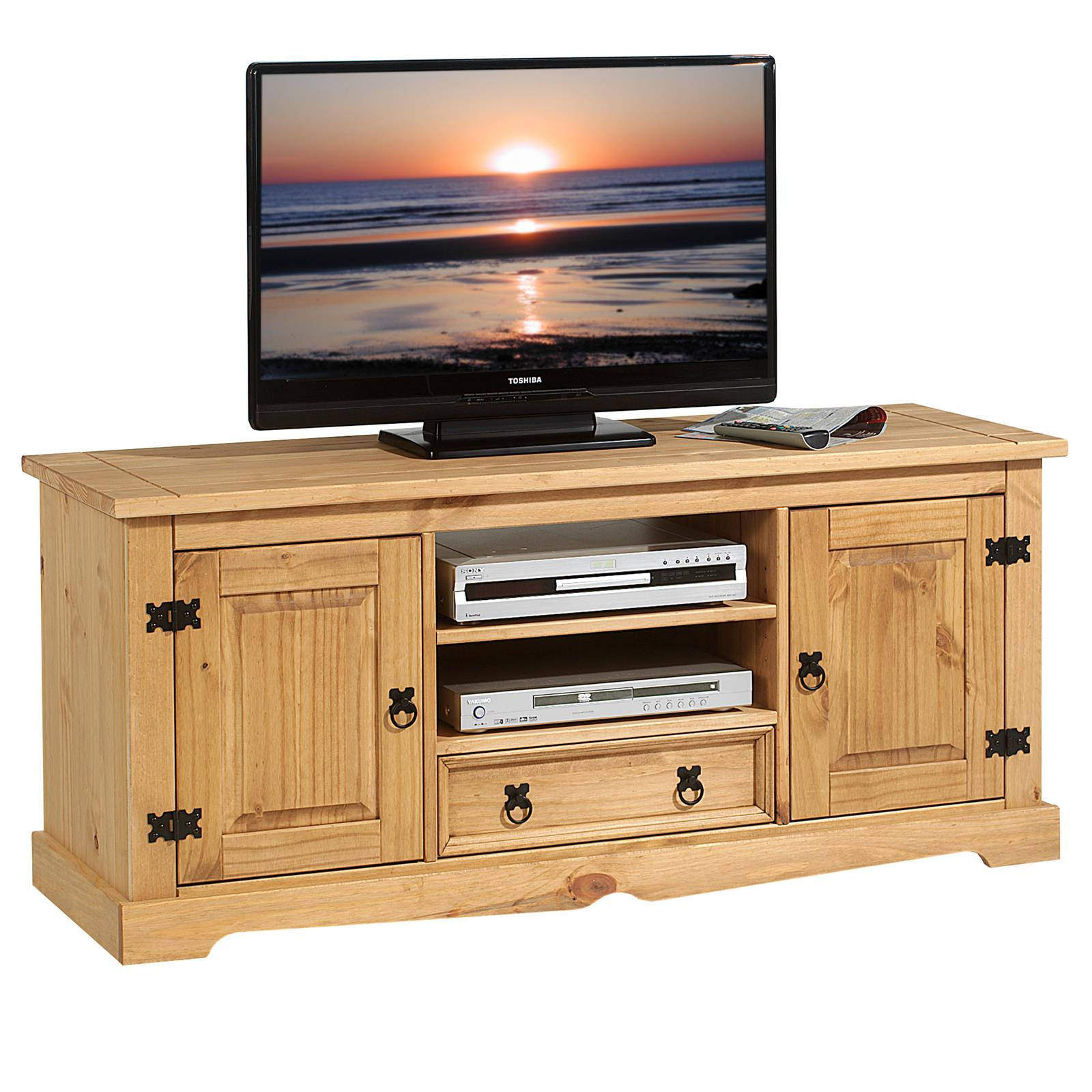 lowboard tv m bel im mexiko stil rack fernsehtisch schrank. Black Bedroom Furniture Sets. Home Design Ideas
