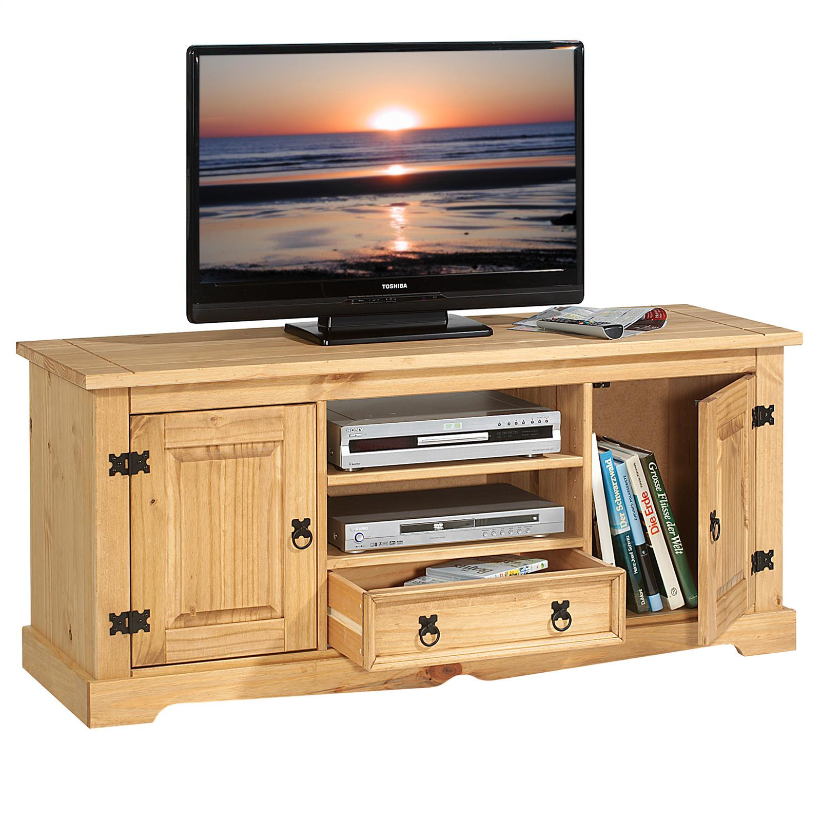 lowboard tv m bel im mexiko stil rack fernsehtisch schrank bank kiefer mexico ebay. Black Bedroom Furniture Sets. Home Design Ideas