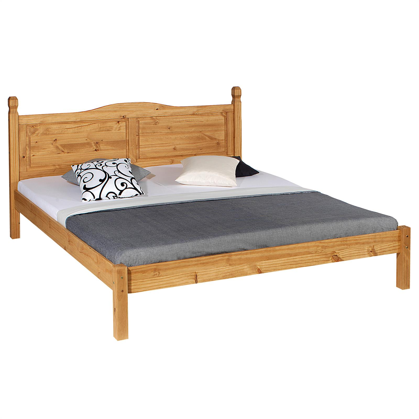 doppelbett holzbett landhausbett massivholzbett mexico 2 gr en kiefer massiv ebay. Black Bedroom Furniture Sets. Home Design Ideas