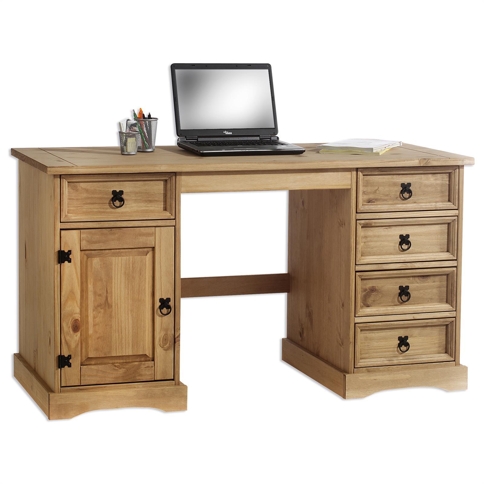 Schreibtisch tequila mexico m bel kiefer massiv mobilia24 - Schreibtisch kiefernholz ...