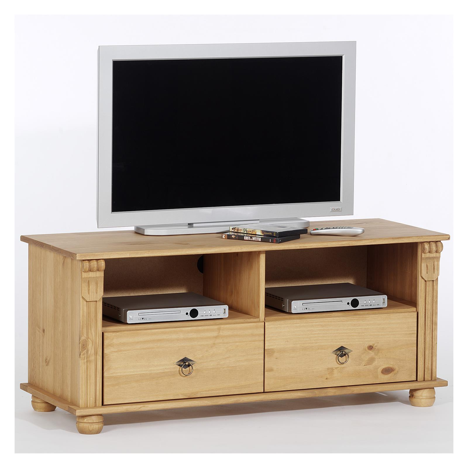 lowboard tv m bel phonom bel tv rack medienm bel hifi tisch phonotisch kiefer ebay. Black Bedroom Furniture Sets. Home Design Ideas