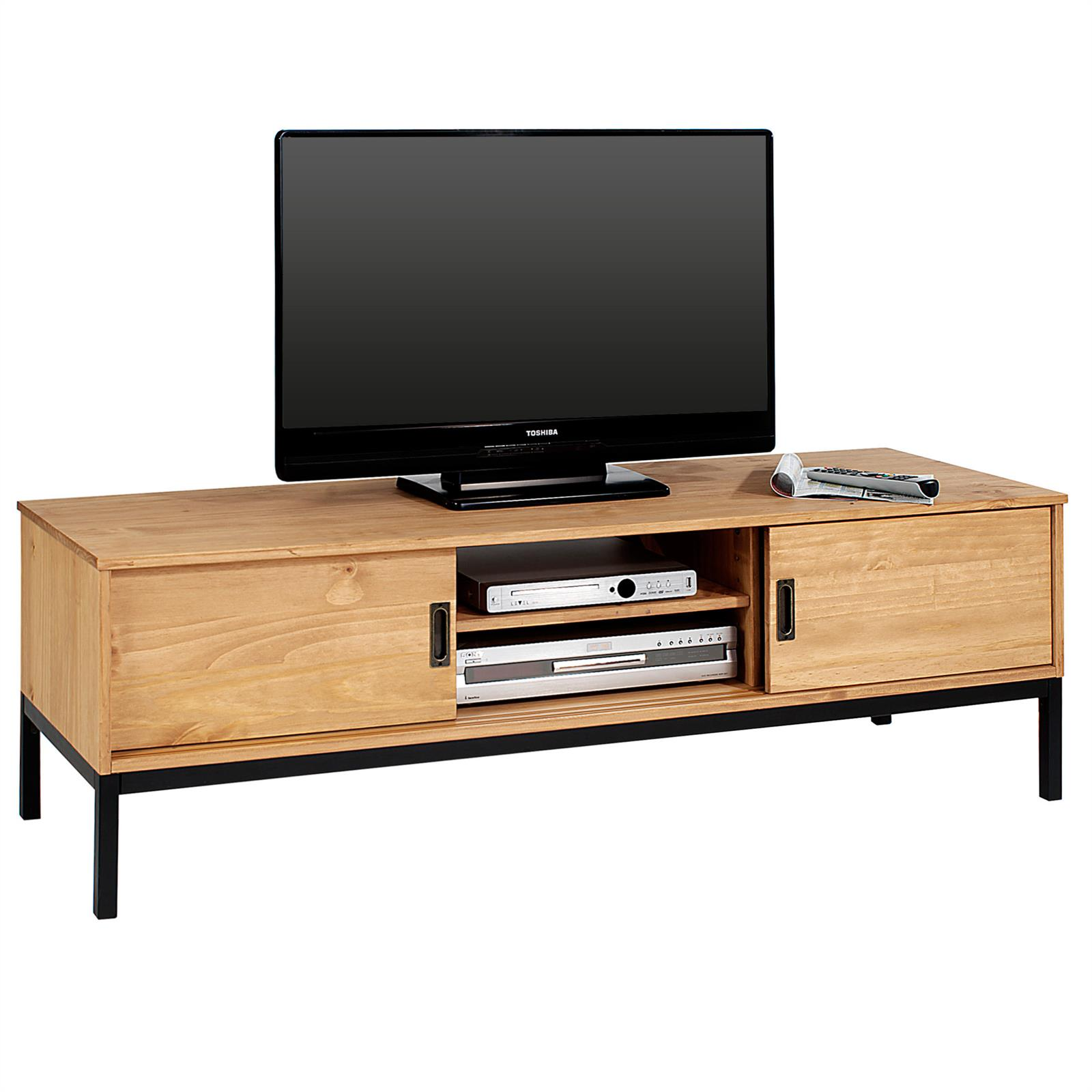 tv lowboard selma mit 2 schiebet ren gebeizt gewachst. Black Bedroom Furniture Sets. Home Design Ideas
