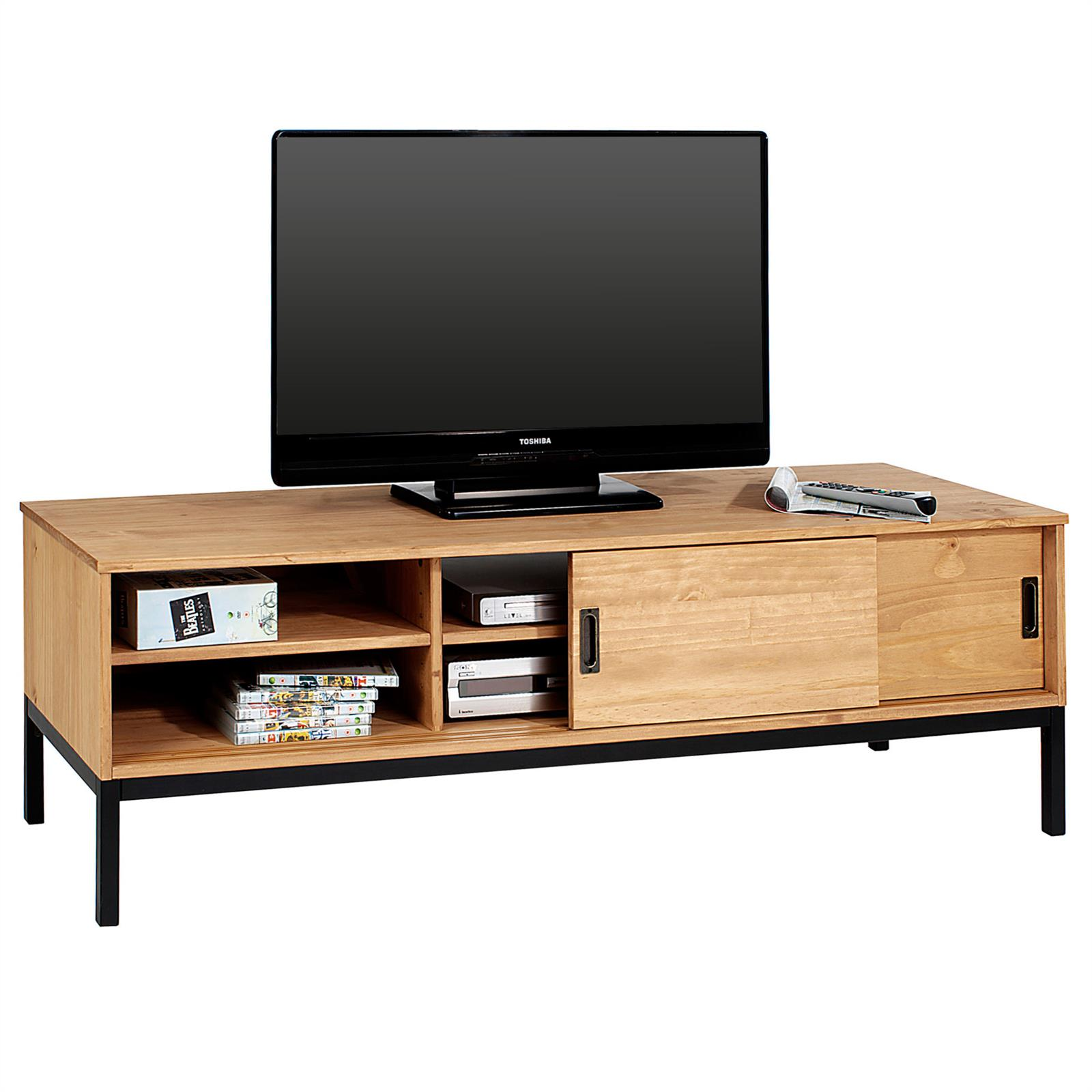 tv lowboard selma mit 2 schiebet ren gebeizt gewachst mobilia24. Black Bedroom Furniture Sets. Home Design Ideas