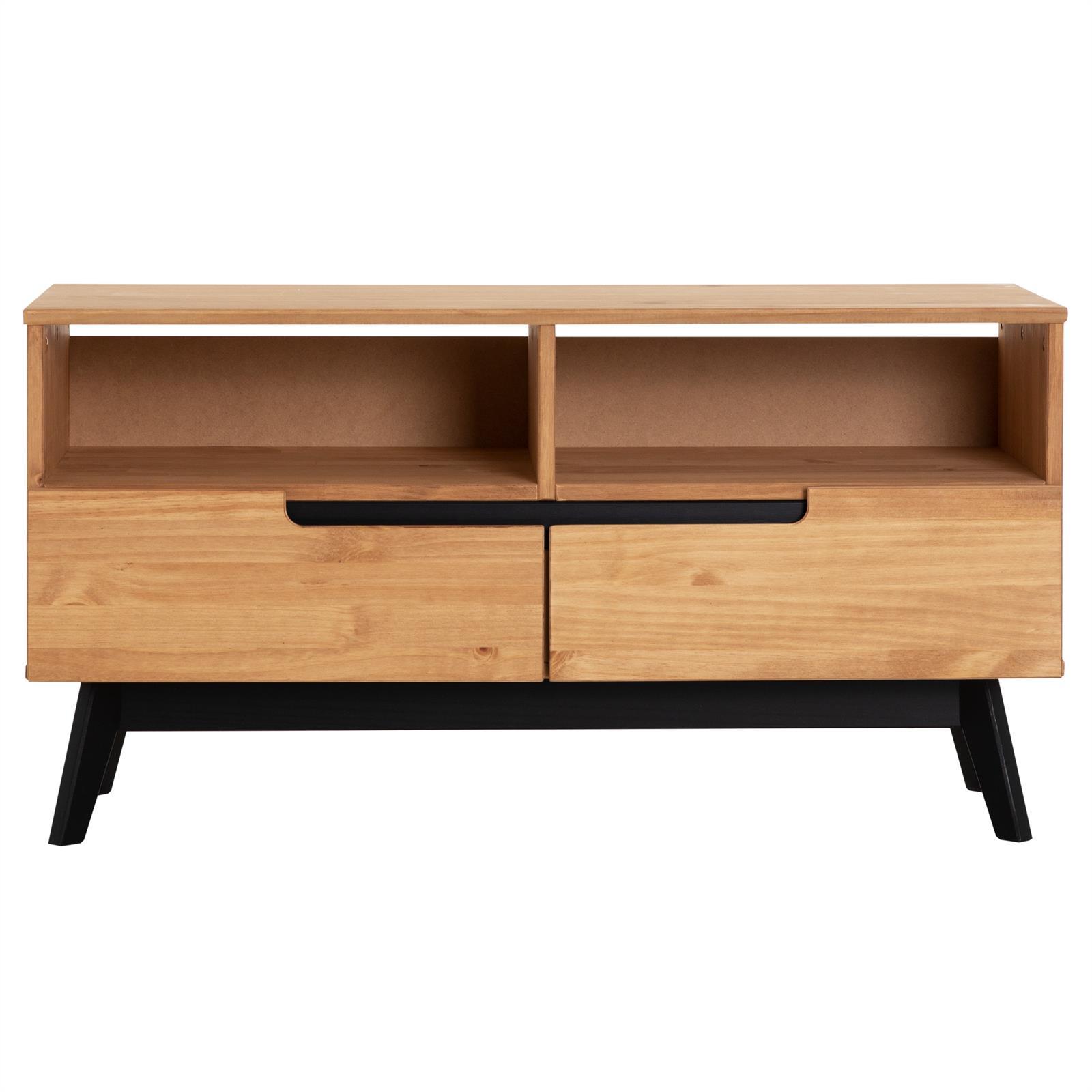 lowboard tv m bel fersehschrank fernsehm bel skandinavisch kiefer massiv ebay. Black Bedroom Furniture Sets. Home Design Ideas