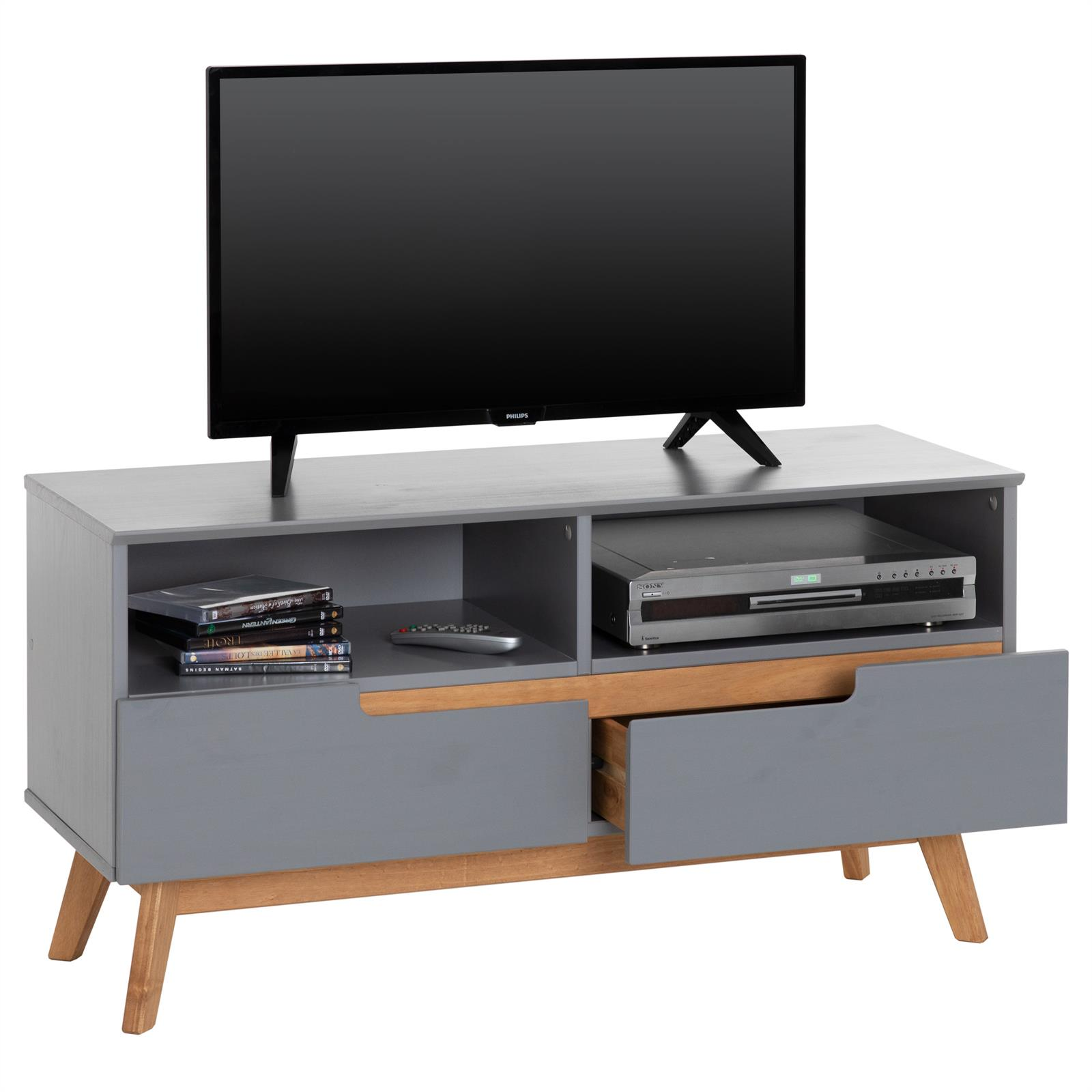 lowboard tv m bel fersehschrank fernsehm bel skandinavisch kiefer massiv ebay. Black Bedroom Furniture Sets. Home Design Ideas