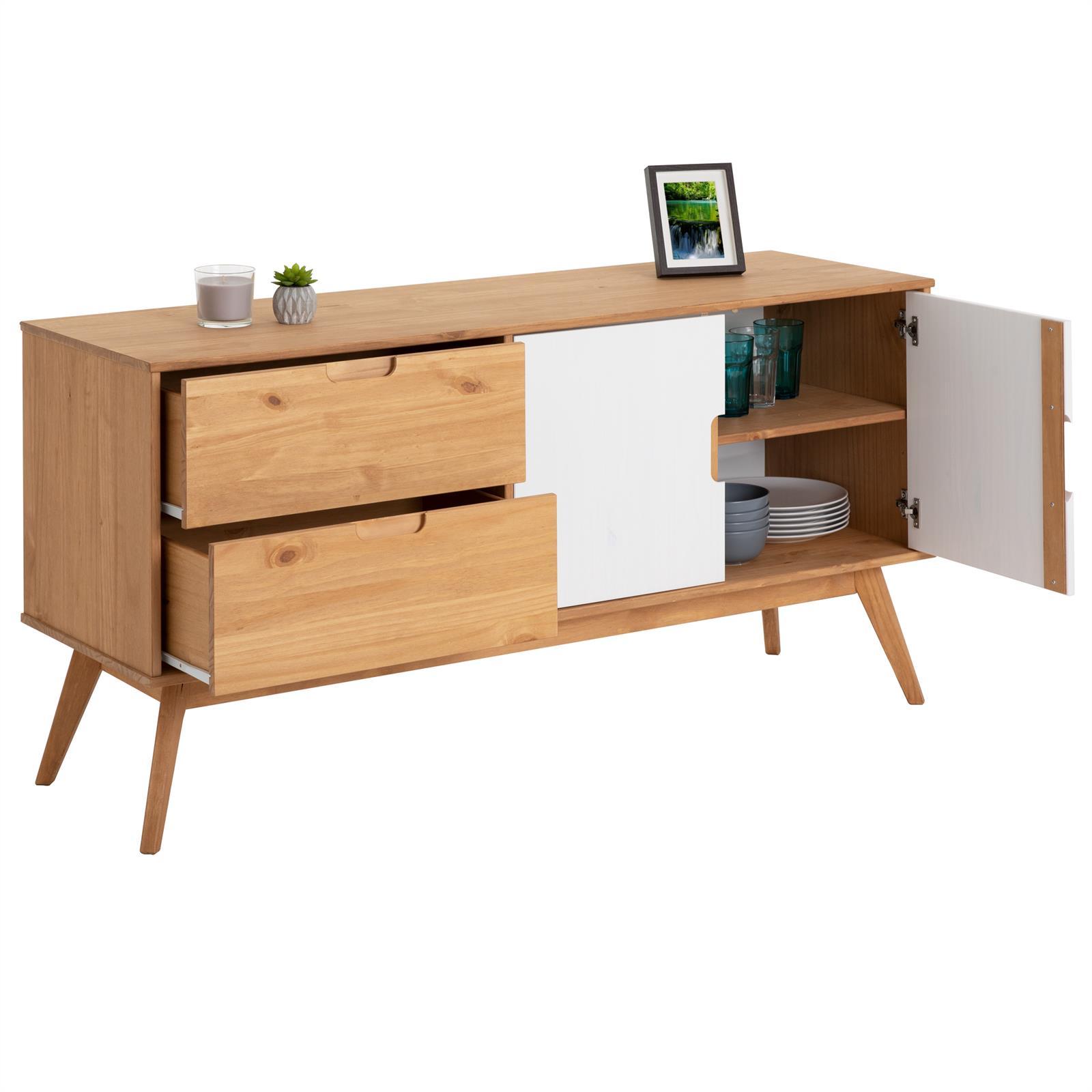 anrichte tivoli 2 t ren 2 schubladen skandinavisches design gebeizt wei mobilia24. Black Bedroom Furniture Sets. Home Design Ideas