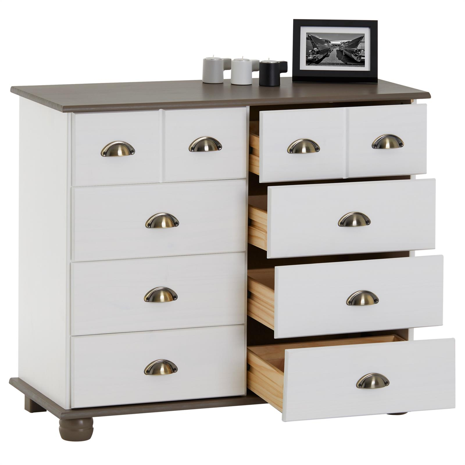 apothekerkommode kommode apothekerschrank sideboard mit 8. Black Bedroom Furniture Sets. Home Design Ideas
