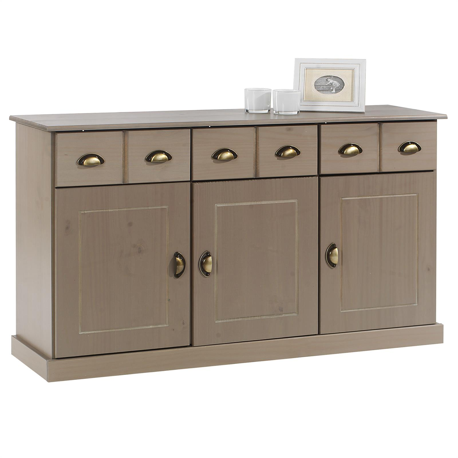 anrichte kommode apothekerschrank apothekerkommode sideboard mit 3 schubladen ebay. Black Bedroom Furniture Sets. Home Design Ideas