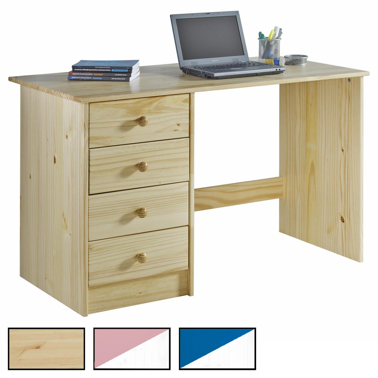Schreibtisch arne in kiefer massiv mobilia24 for Schreibtisch in kiefer