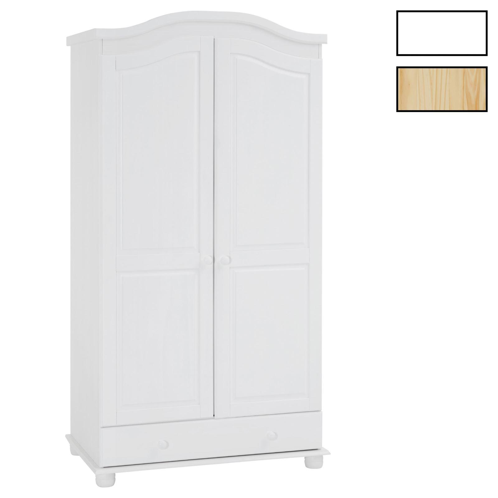 Garderobenschrank Dielenschrank BERGEN mit 2 Türen in 4 Farben ...