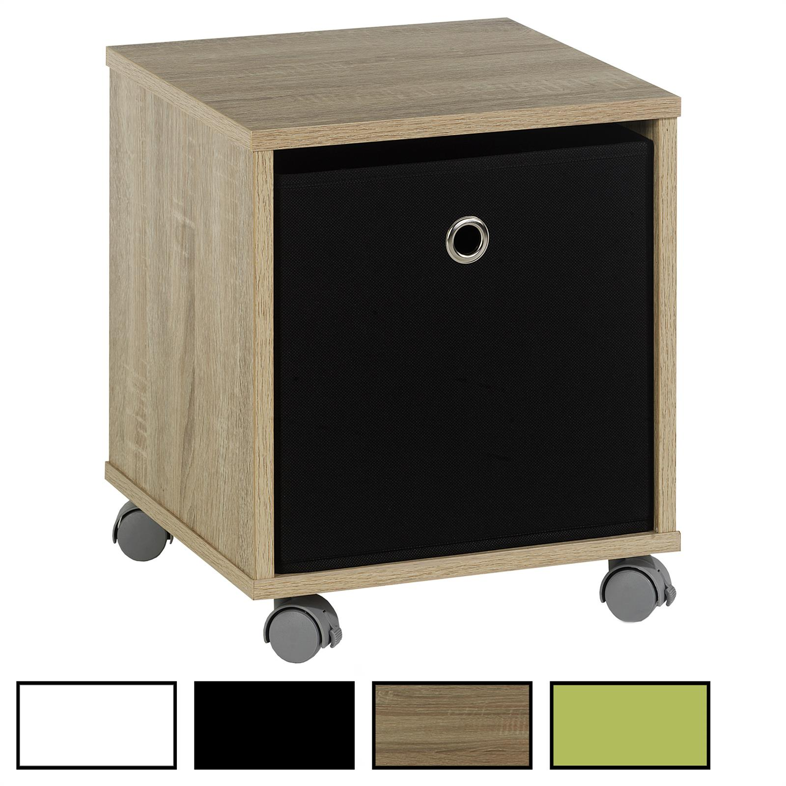 Nachttisch Kommode Schrank Rollcontainer Möbel mit