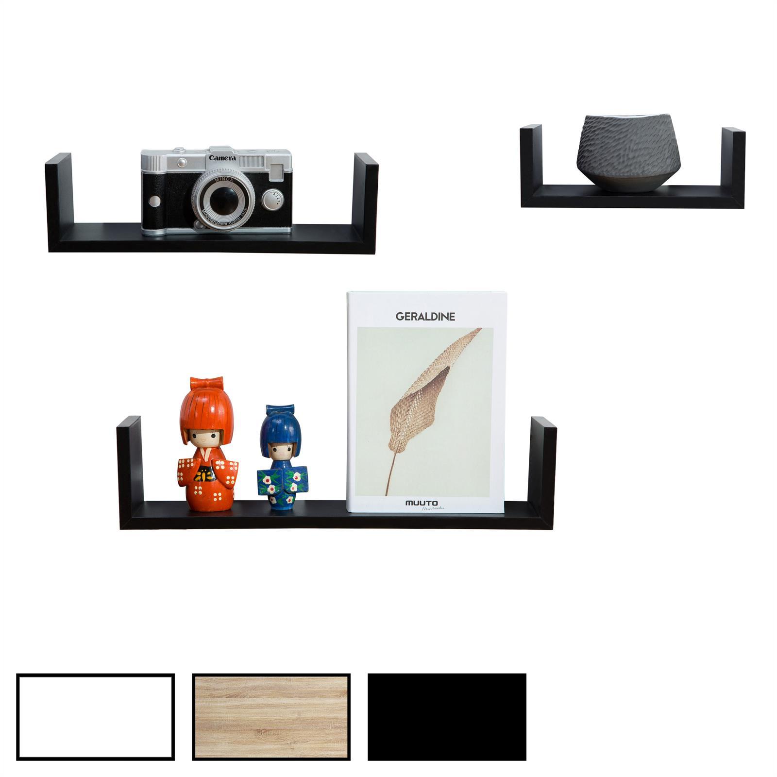 wandregal h ngeregal 3er set cairns mobilia24. Black Bedroom Furniture Sets. Home Design Ideas