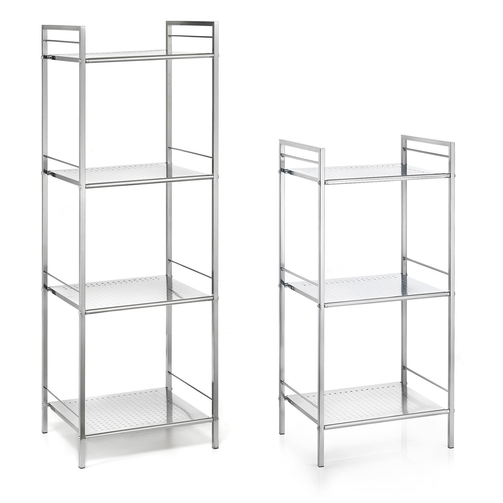 badregal metallregal matis mit 3 oder 4 b den mobilia24. Black Bedroom Furniture Sets. Home Design Ideas