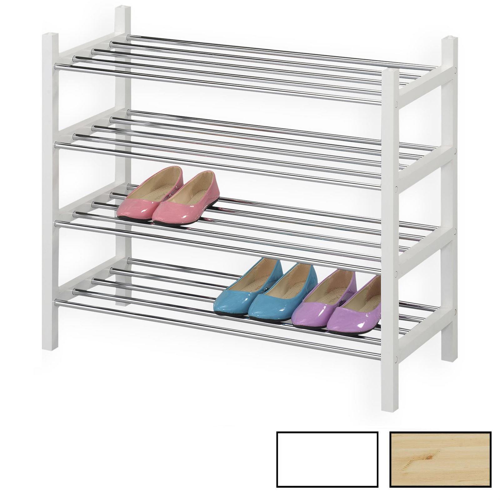 schuhregal resa mit 4 b den in 4 farben mobilia24. Black Bedroom Furniture Sets. Home Design Ideas