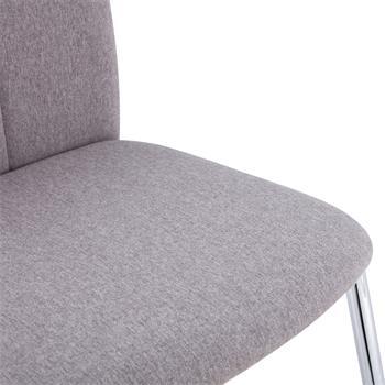 Esszimmerstuhl APOLLO, Set mit 4 Stühlen Stoff in grau