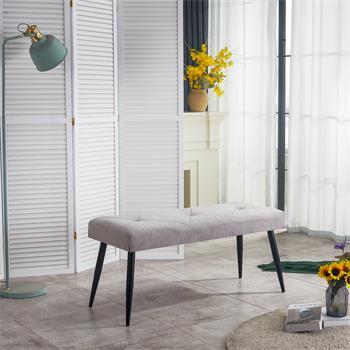 Sitzbank ARUBA Stoffbezug in grau