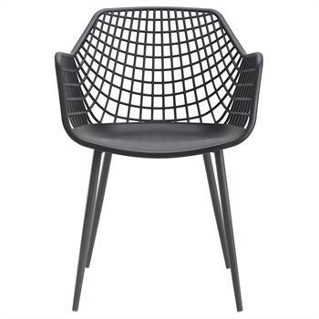 Esszimmerstuhl LUCIA im Retro Design 4er Set in schwarz
