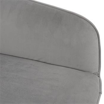 Esszimmerstuhl PRISMA im 2er Pack mit Samt Stoff in grau