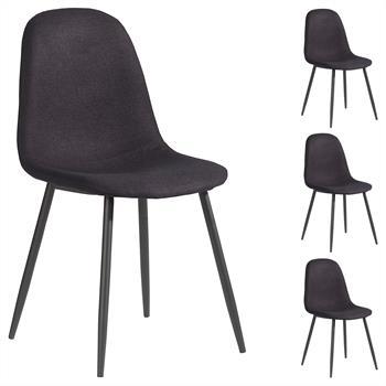 B-Ware Stuhl BRIT 4er Set schwarz