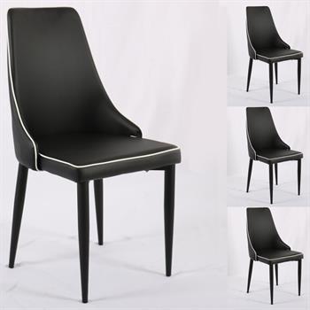 B Ware Stuhl KATY 4er Set Schwarz/weiß