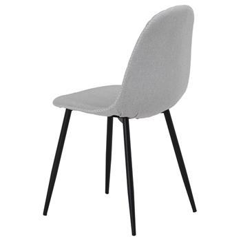 Esszimmerstuhl RENA im 4er Set Stoff hellgrau modernes Design