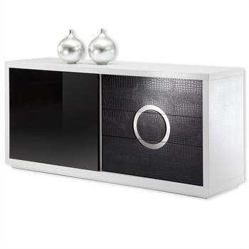 Design Buffet Sideboard ACAPULCO schwarz/weiß