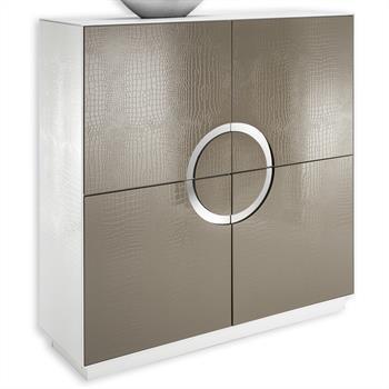 Design Schrank Kommode Sideboard ACAPULCO weiß/cappuccino