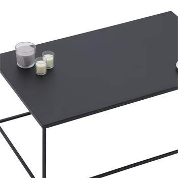 Couchtisch KENDO rechteckig aus Metall in schwarz