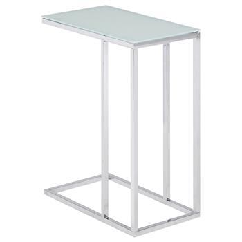 Beistelltisch BELGRAD mit Glasplatte in weiß