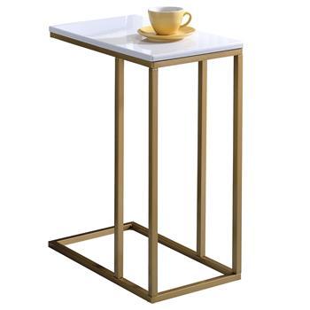 Beistelltisch DEBORA rechteckig in gold/weiß