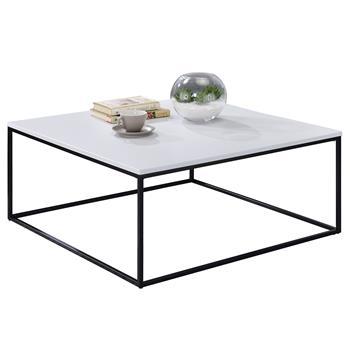 Couchtisch SAHARA quadratisch modern in schwarz/weiß