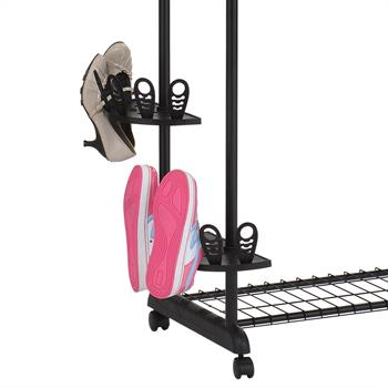 Rollgarderobe REMKO mit Schuhhalterung