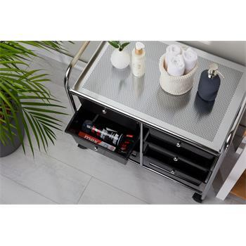 Rollcontainer GINA, 6 Schubladen schwarz/chrom