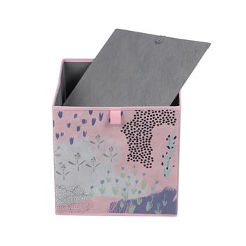 Stoffbox FLOWER PINK-2 faltbar im 2er Pack rosa