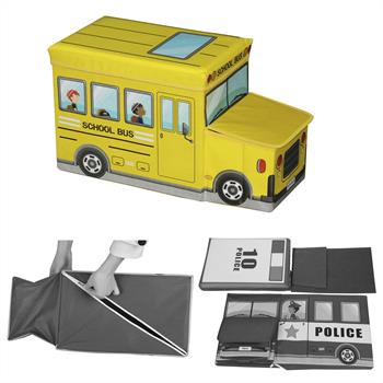 Sitzhocker BUS in gelb mit Stauraum