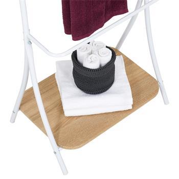 Handtuchhalter EDY mit 5 Handtuchstangen weiß/Sonoma Eicher