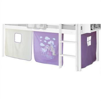 Vorhang PRINZESSIN  lila-weiß