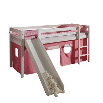 Rutschbett MAX mit Vorhang in pink-rosa