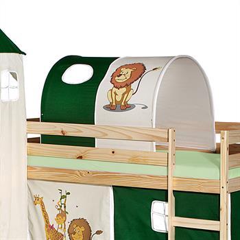 Tunnel DSCHUNGEL für Spielbett  in grün/beige