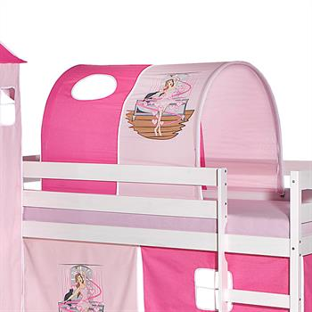 Tunnel BALLERINA für Spielbett in pink/rosa