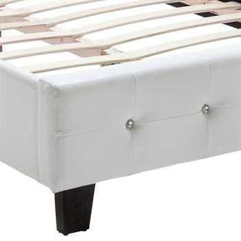 Polsterbett VERONIKA 120 x 200 cm in weiß