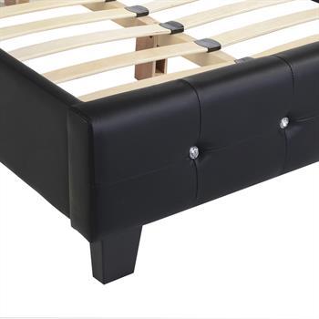 Polsterbett VERONIKA 120 x 200 cm in schwarz
